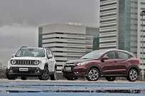 Renegade e HR-V: os dois SUVs mais comentados do momento analisados em vários ângulos