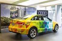 Audi A3 Sedan com pintura especial em homenagem à Ayrton Senna