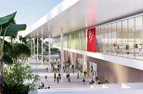Projeções dos novos pavilhões da Expo São Paulo