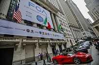 Abertura da FCA na bolsa de Nova York: bandeira brasileira não estava ali à toa