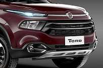 Grade frontal foi usara para estilizar o nome Toro