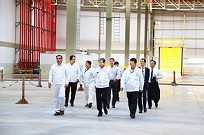 Executivos da Honda na fábrica de Itirapina
