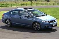 O Civic EXR é relançado com as mudanças no exterior e interior do veículo recebidas pela versão LXR na linha 2015