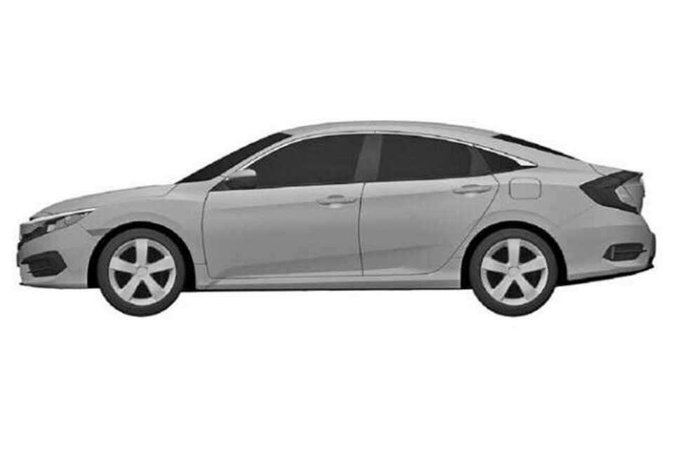 Desenhos de patentes revelam a 10ª geração do Honda Civic