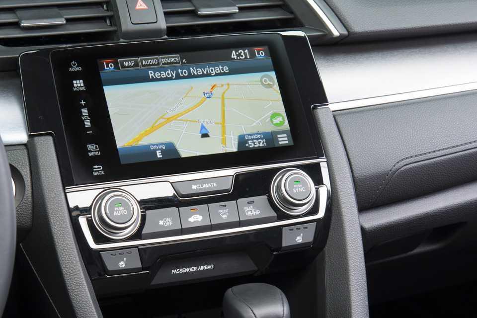 Civic abandonou o freio de estacionamento manual por uma opção elétrica