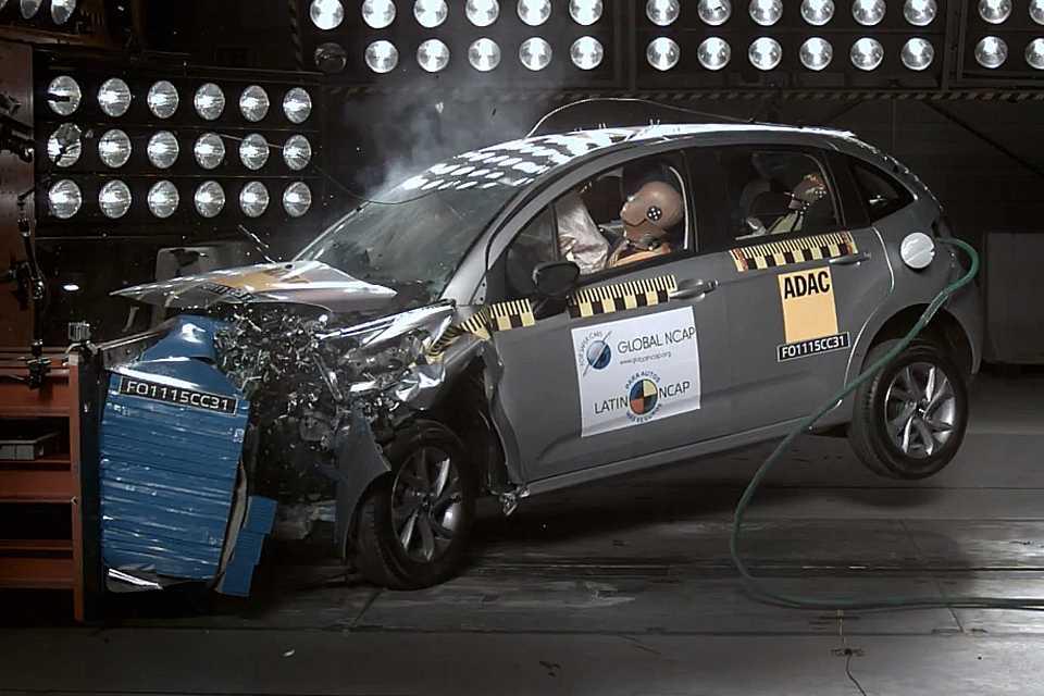 Citröen C3 no teste de colisão do Latin NCAP