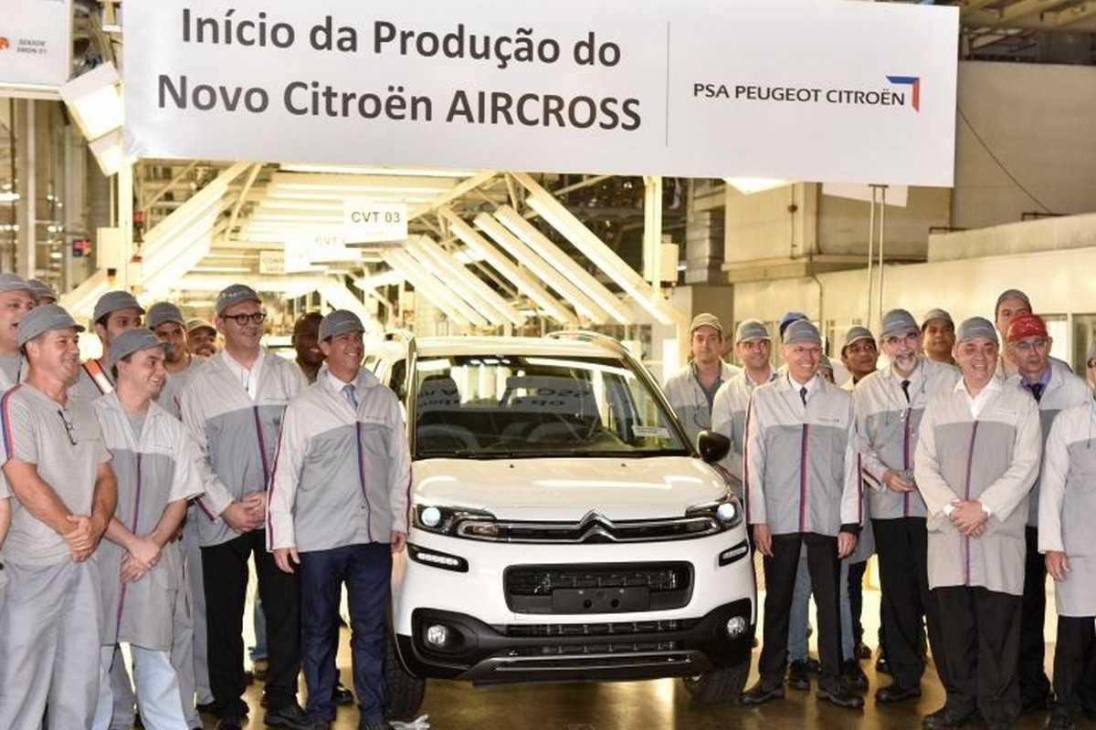 Novo Aircross na fábrica da PSA em Porto Real, RJ