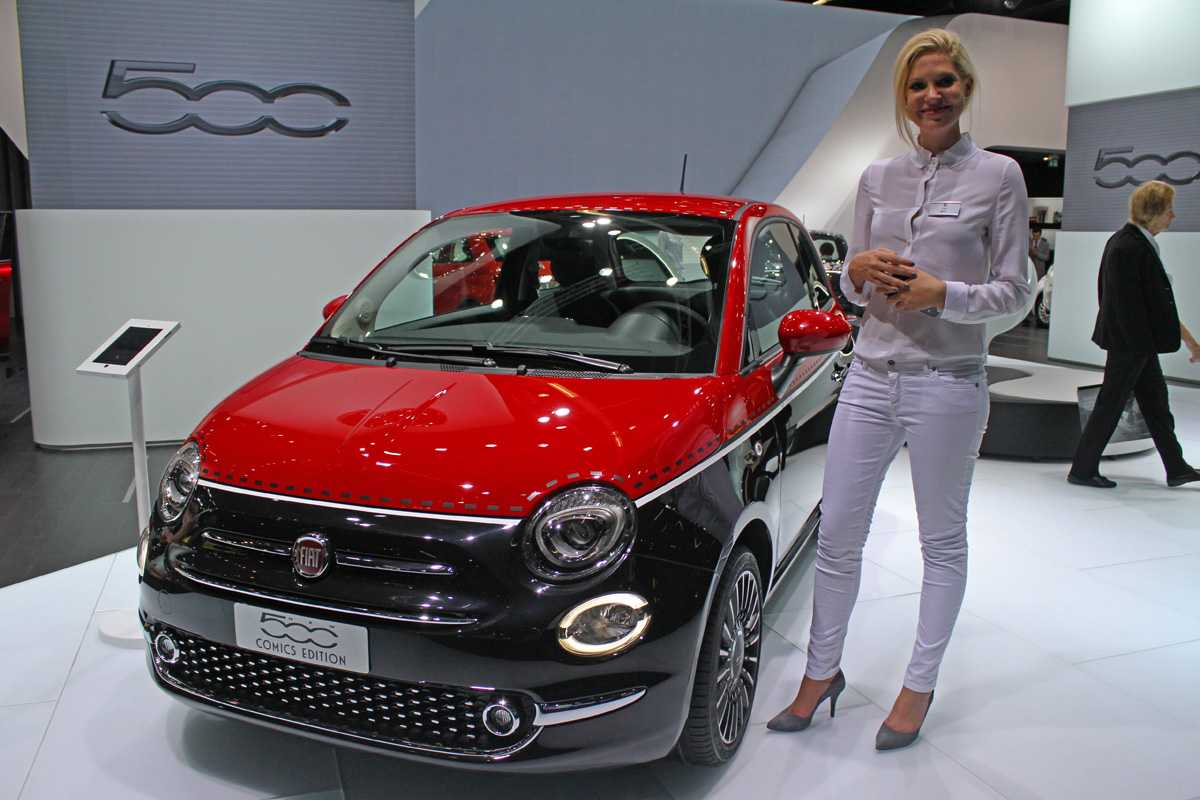 Fiat 500 reestilizado no Salão de Frankfurt