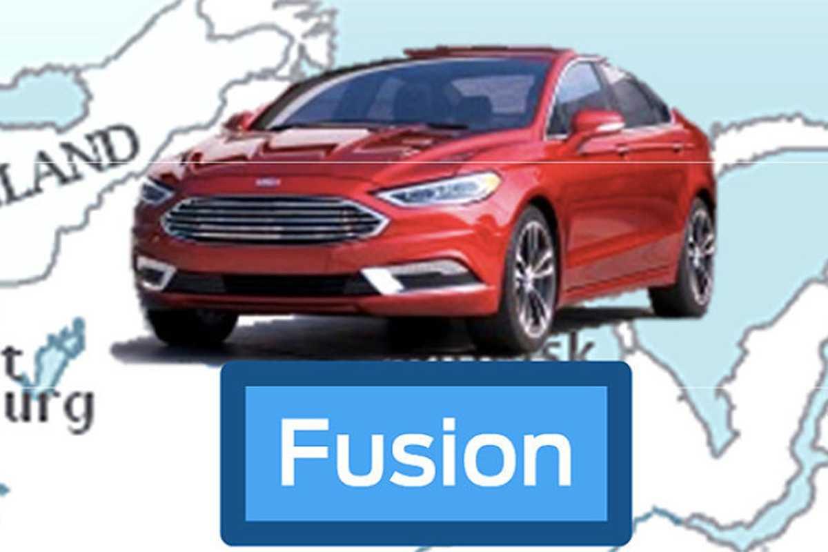 Novo visual do Fusion que vazou em apresentação