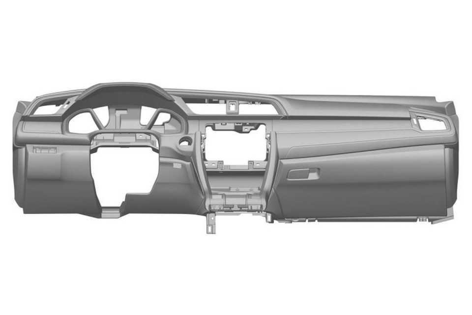 Imagens de patente do painel do Civic 2016