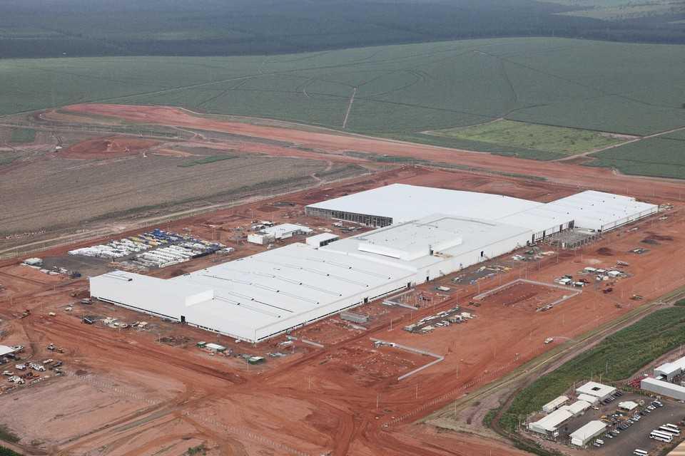 Imagem aérea da fábrica da Honda em Itirapina