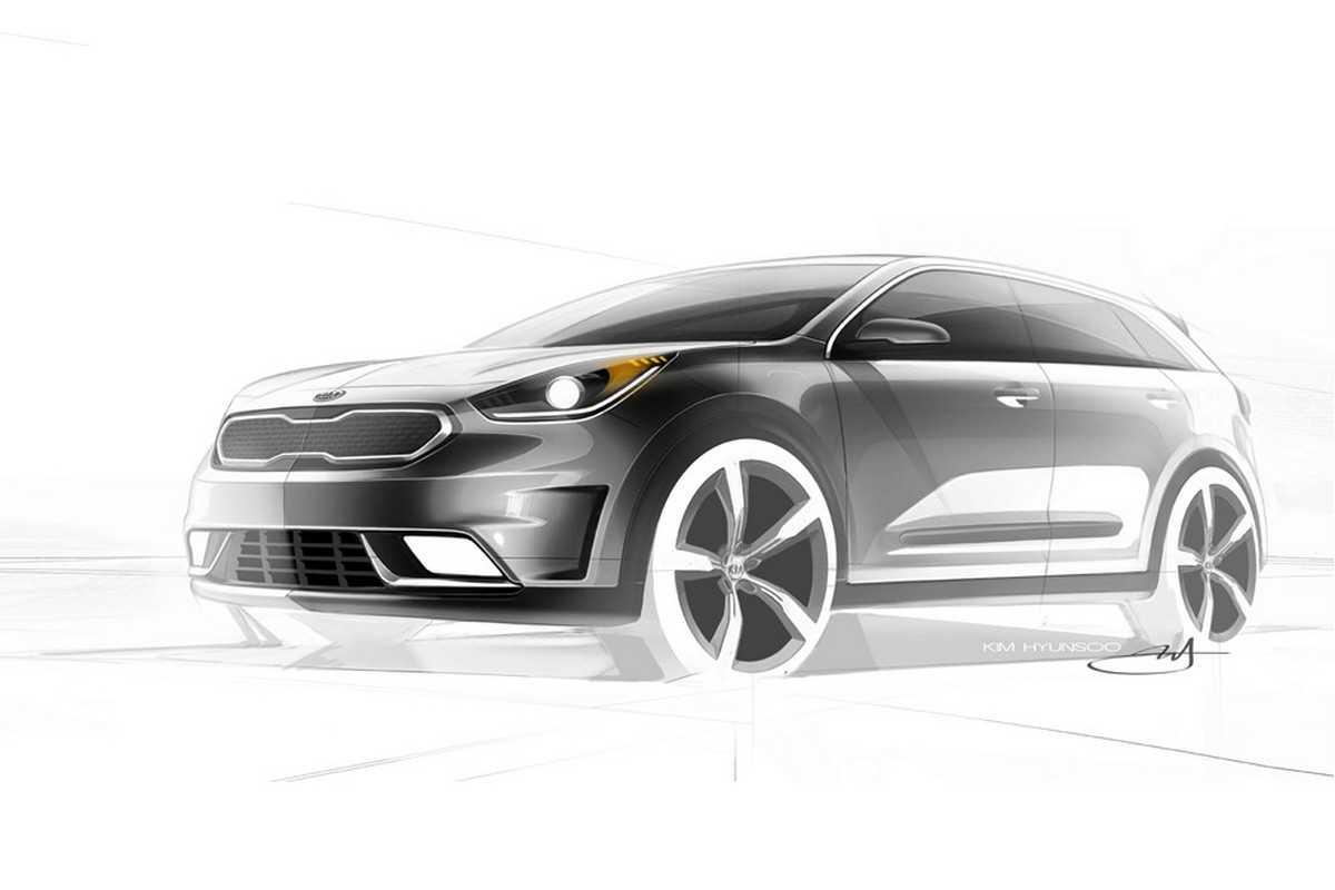 Esboços do novo Kia Niro Hybrid
