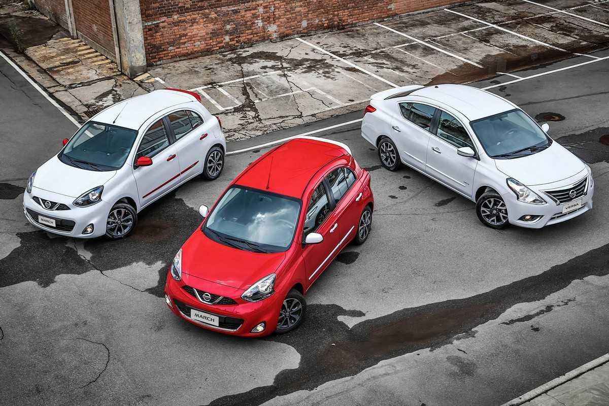 Linha 2016 dos compactos Nissan March e Versa