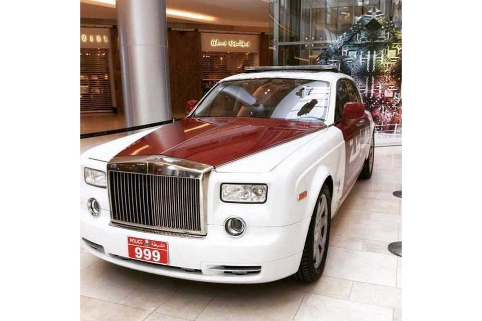 Rolls-Royce Phantom da polícia de Abu Dhabi