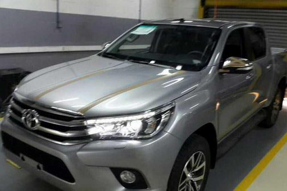 Flagra da nova Toyota Hilux