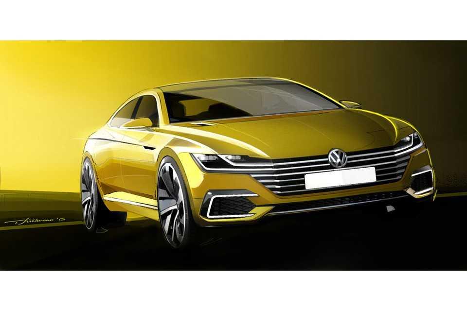 Esboço do novo Volkswagen CC conceitual