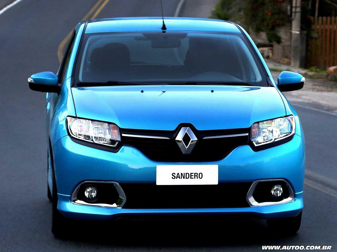 RenaultSandero 2016 - ângulo frontal