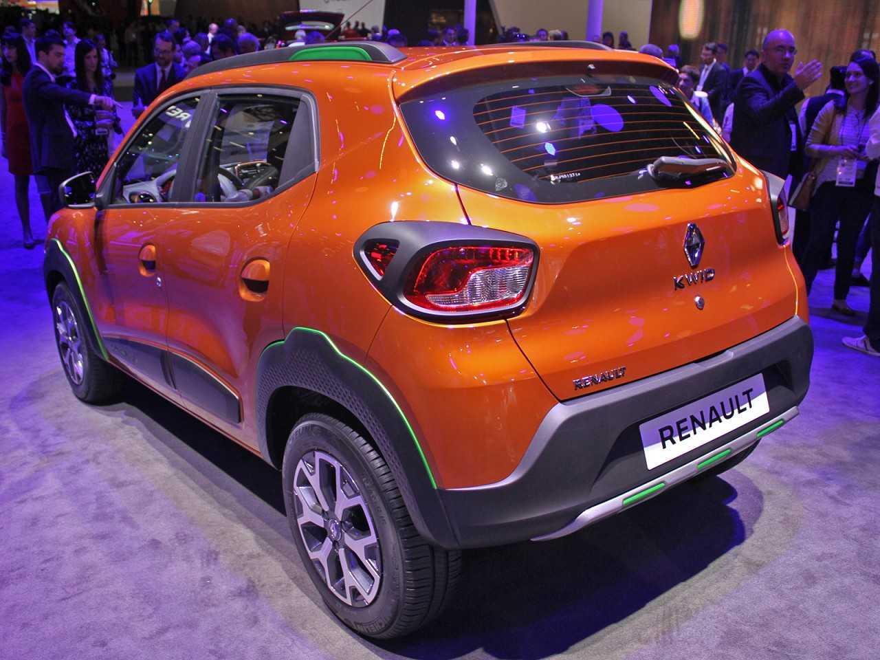 RenaultKwid 2017 - ângulo traseiro