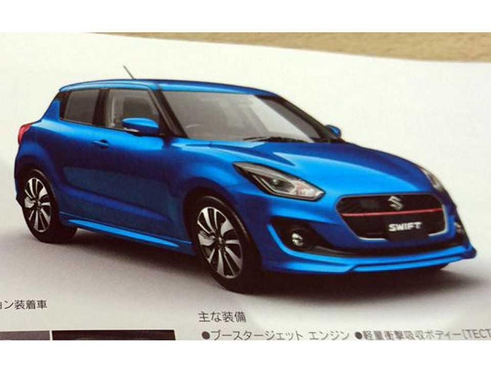 Imagem vazada da próxima geração do Suzuki Swift