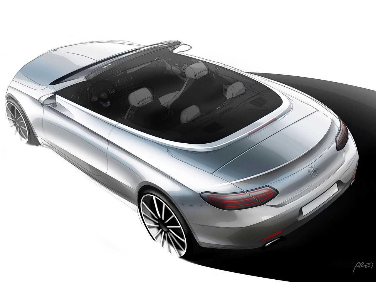 Ilustração antecipando o novo Mercedes-Benz Classe C conversível