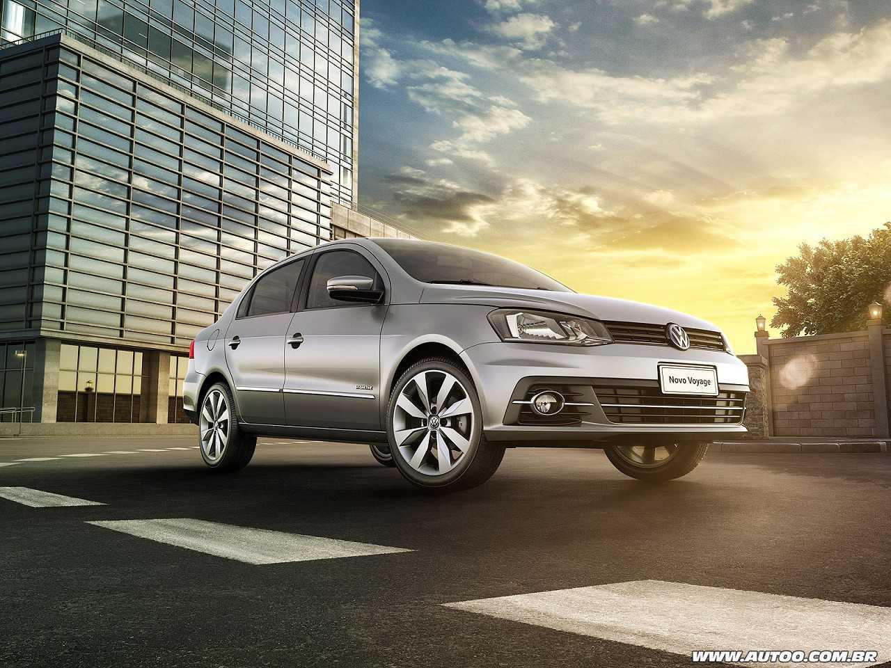 VolkswagenVoyage 2017 - ângulo frontal
