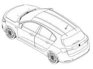 Novo Fiat Tipo Hatch aparece em imagem de patente