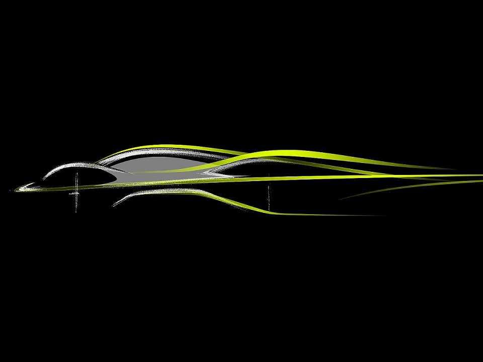 Teaser do projeto AM-RB 001, resultado da parceria entre Aston Martin e Red Bull Racing