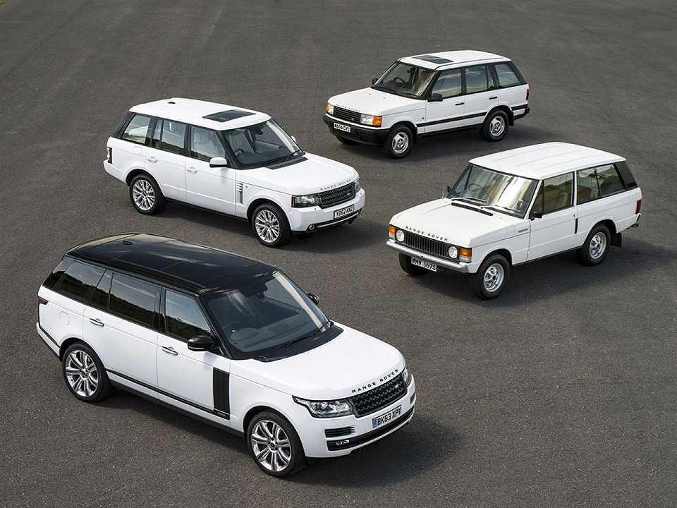 As quatro gerações do Range Rover
