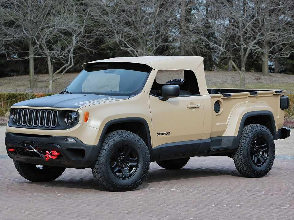 Jeep Comanche Concept: homenagem ao Comanche original sobre a base do Renegade