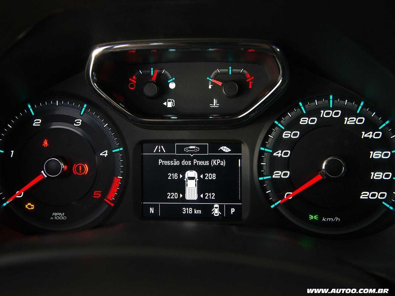 ChevroletS10 2017 - painel de instrumentos