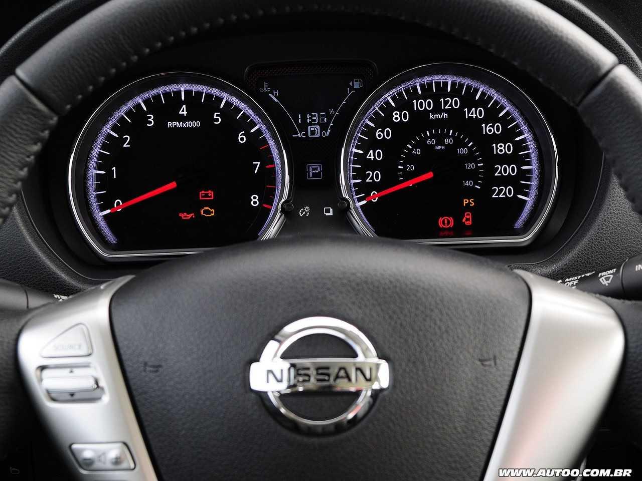 NissanVersa 2017 - painel de instrumentos