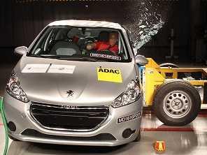 Peugeot 208 decepciona em teste de segurança