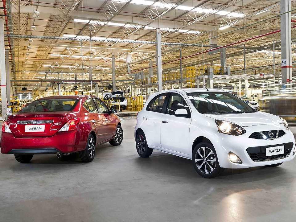 Nissan March e Versa automáticos