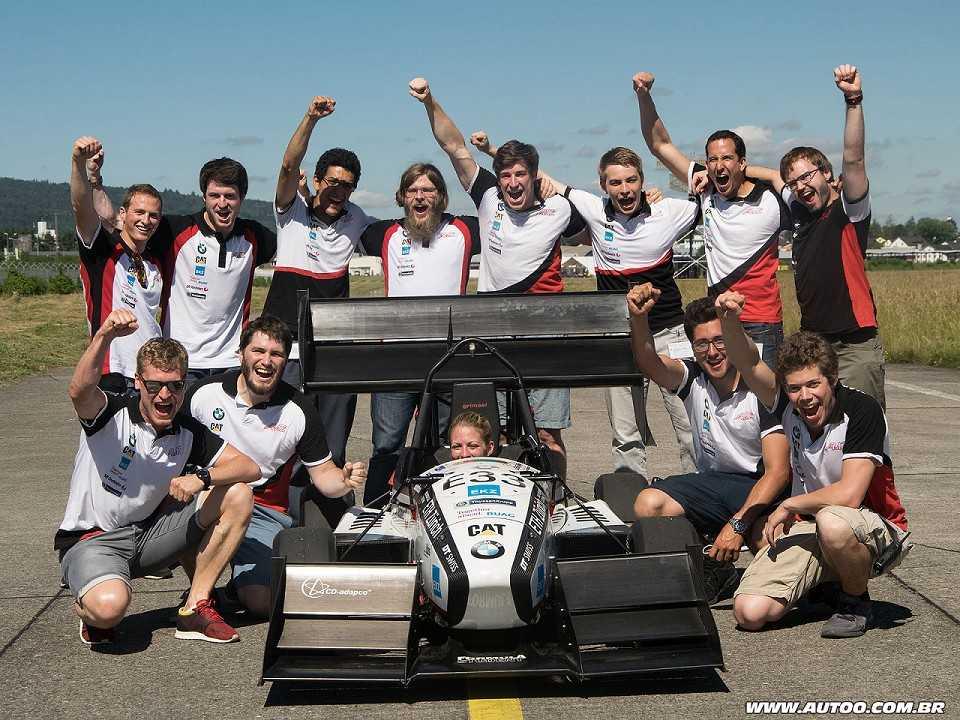 Equipe da ETH Zurich, que estabeleceu o recorde mundial no 0 a 100 km/h