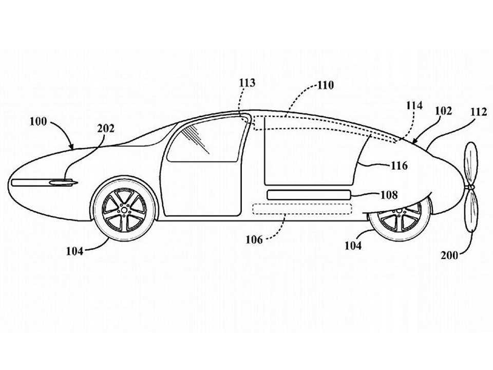 Patente da Toyota para um carro voador