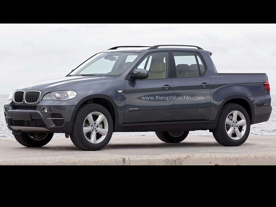 Exercício de como poderia ser uma picape da BMW para rivalizar com a Mercedes-Benz