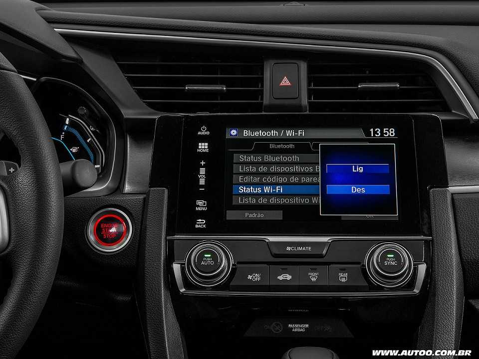 HondaCivic 2017 - console central