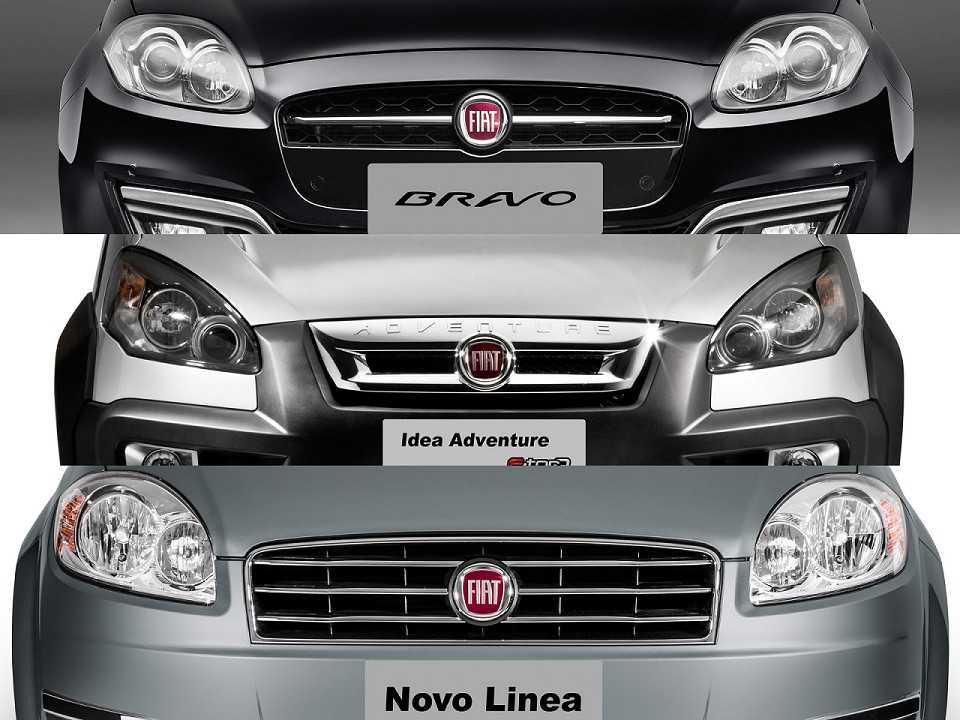 Idea, Bravo e Linea: com vendas em baixa, modelos podem sair de cena, embora Fiat negue