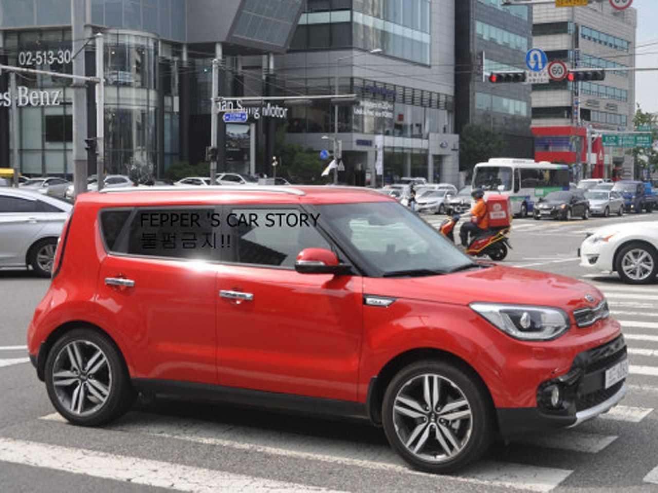 Facelift do Kia Soul flagrado na Coreia do Sul