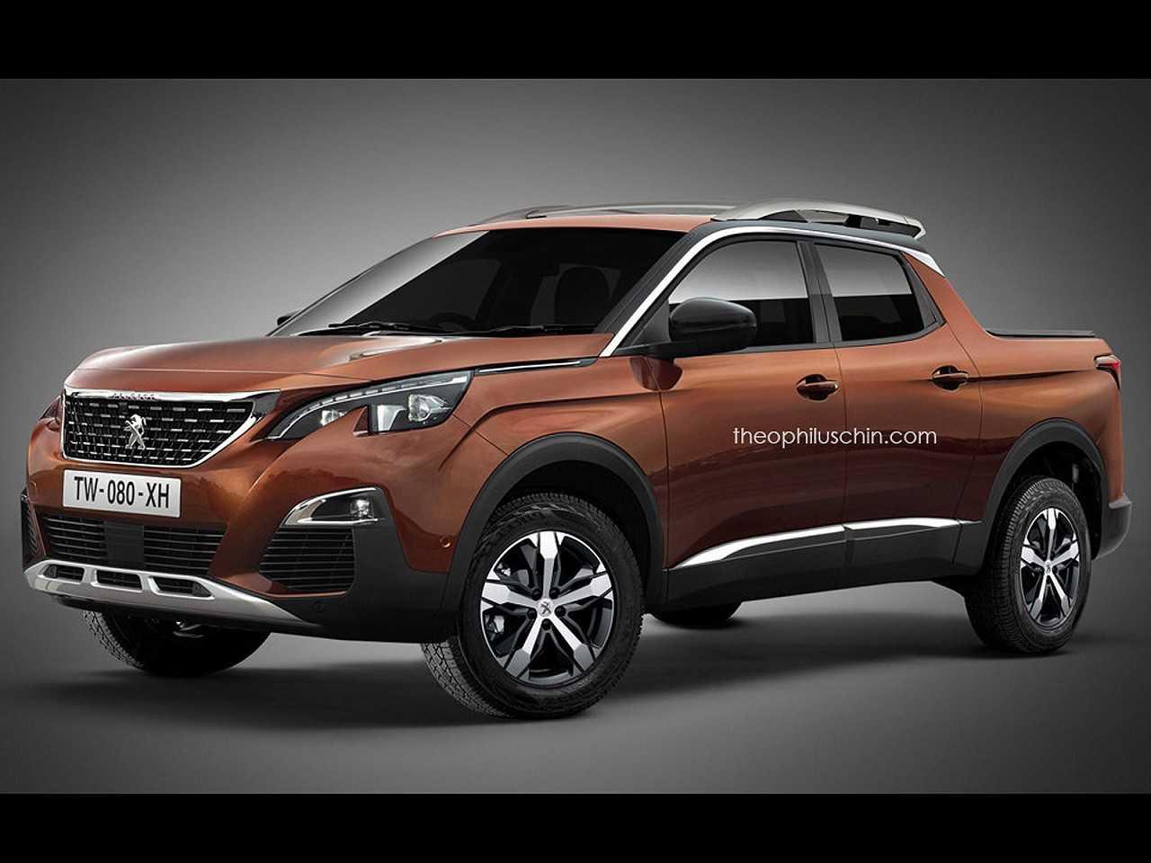 Projeção antecipa detalhes da futura picape média da PSA, no caso baseada na marca Peugeot