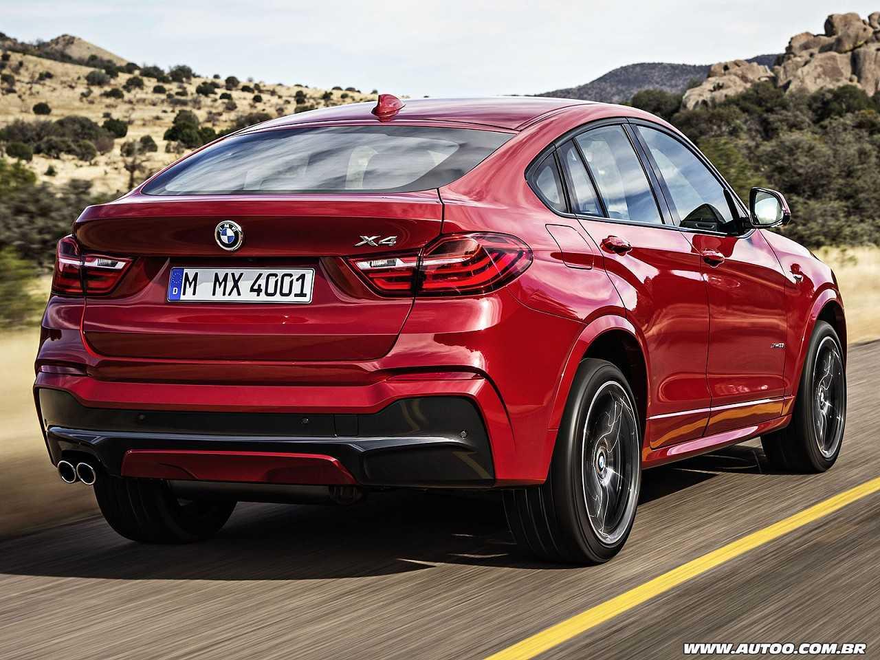 BMWX4 2016 - ângulo traseiro