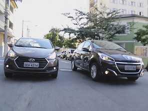 Hyundai HB20 e Peugeot 208 no duelo da economia
