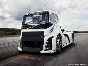 Volvo mostra o caminh�o mais r�pido do mundo