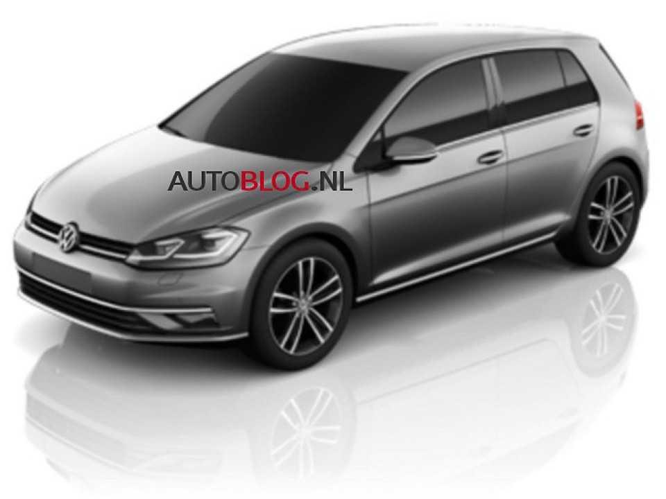 Ilustração antecipa o facelift do Volkswagen Golf VII
