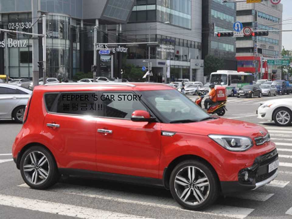 Facelift do Kia Soul flagrado na Coreia do Sul