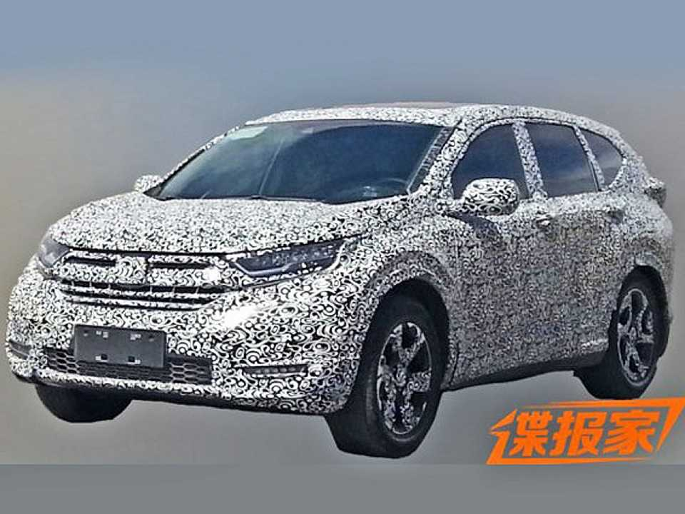 Honda CR-V 2018 é flagrado na China