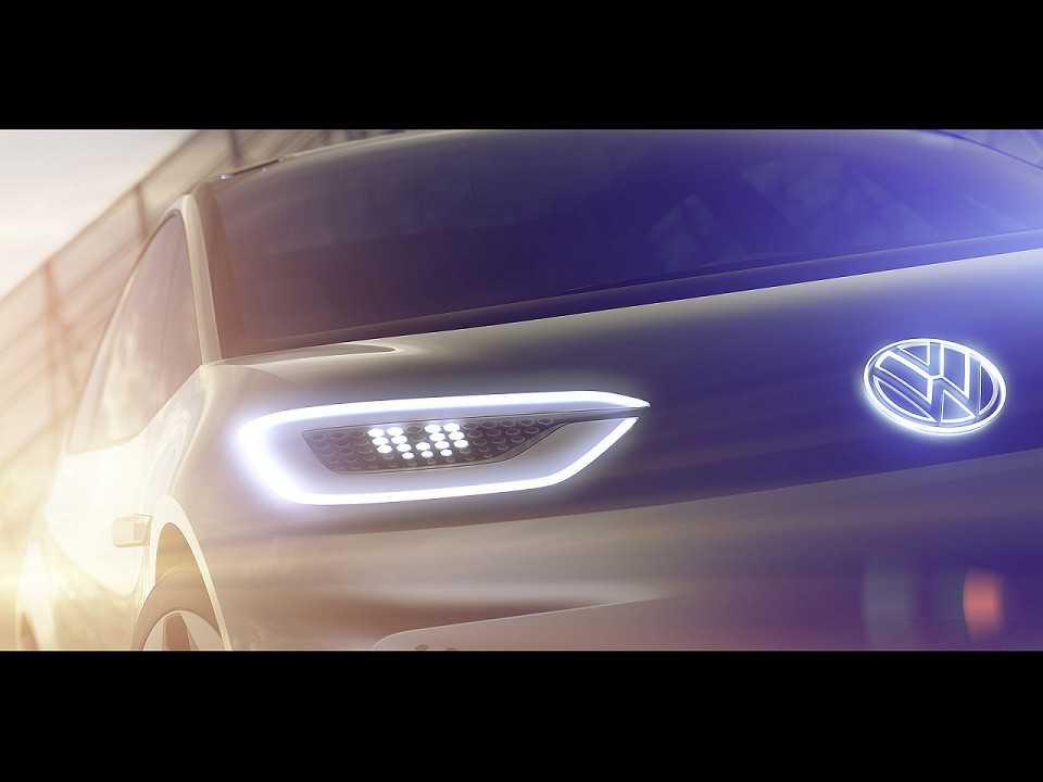 Teaser do futuro elétrico da VW, que promete revolucionar a categoria