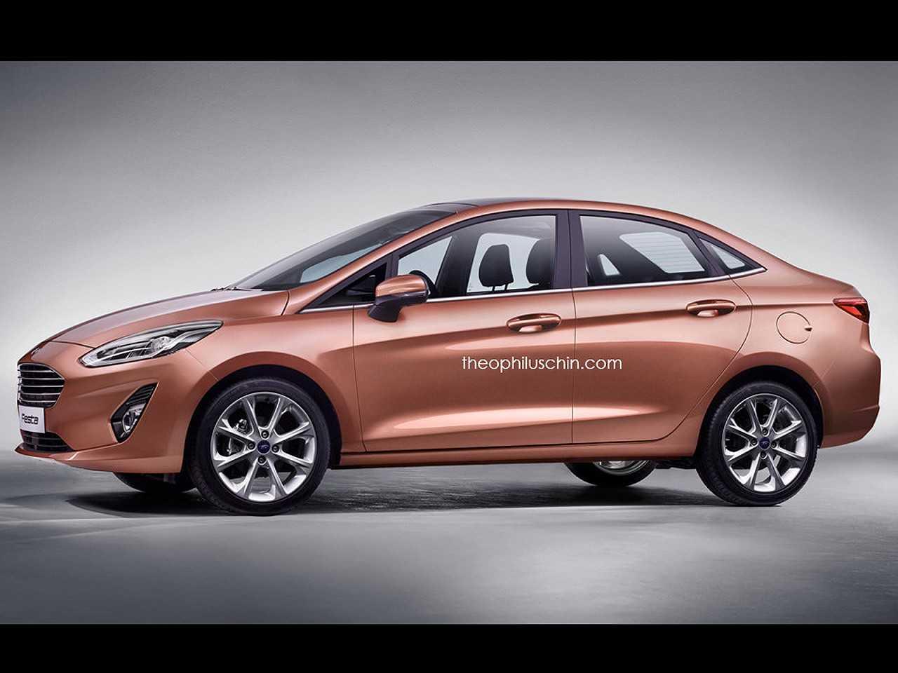 Projeção antecipa a nova geração do Ford Fiesta Sedan