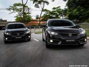 Honda Civic fica mais caro, mas ainda está mais em conta que o Toyota Corolla