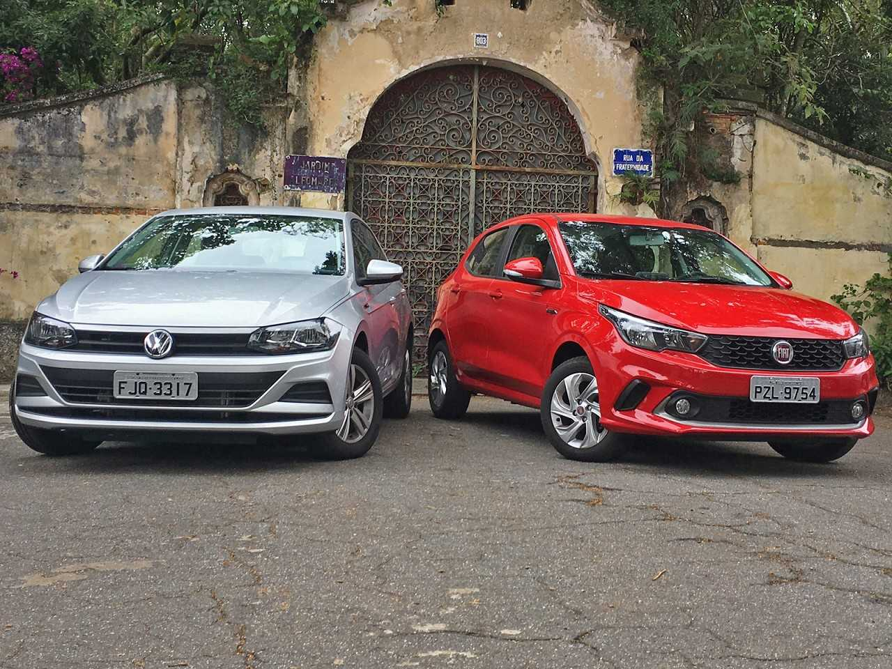 Volkswagen Polo e Fiat Argo